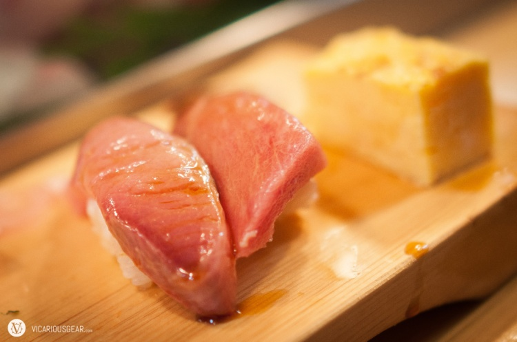 Fatty tuna (regular and medium).