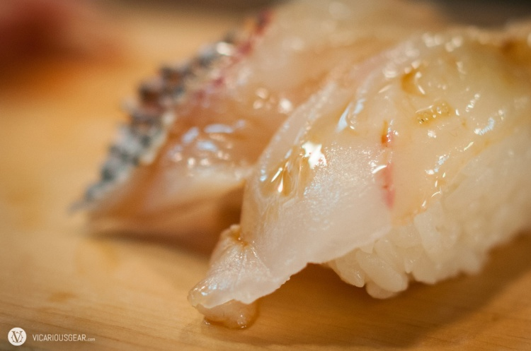 Red snapper (tai) and hirame (flounder).