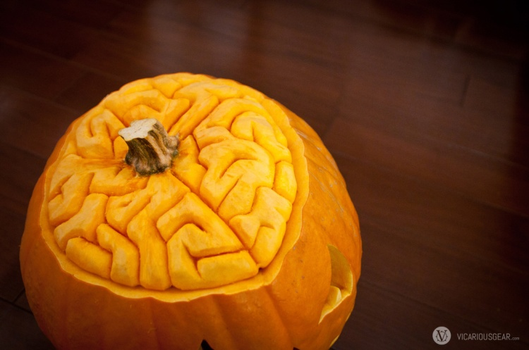 Mimi requested a brain. Its been so long since I've carved a jack-o'-lantern.