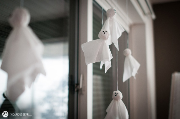 Making these tissue paper ghosts really brought back childhood memories.