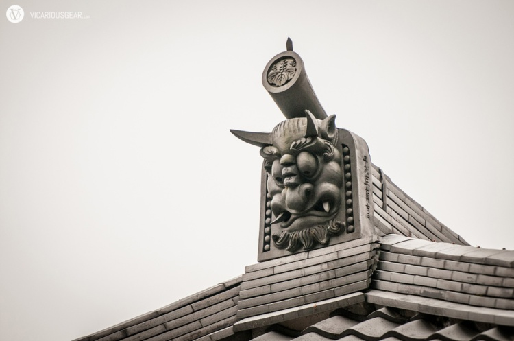 This chubby cheek demon was atop the building with food vendors. I doubt it was a coincidence.