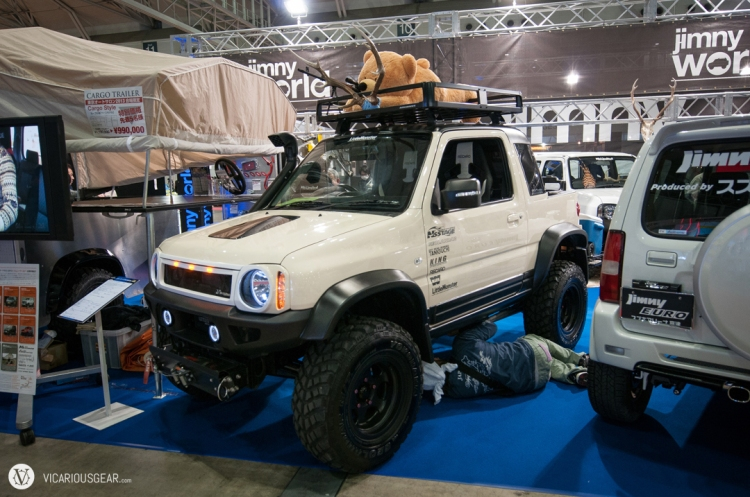 This cuddly sniper bear and squished owner weren't quite enough to make this Suzuki Jimny look tough.