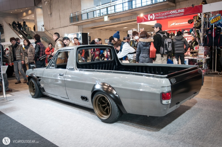 The Hakosuka styling cues fit the Sanitora Truck perfectly.