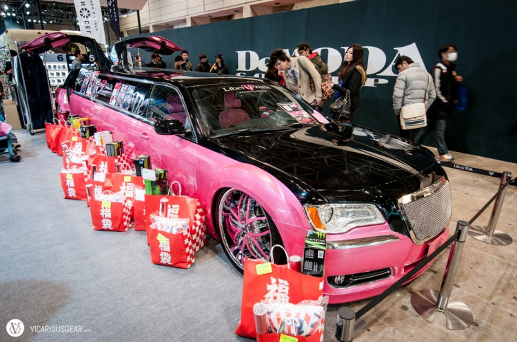 the pink and rhinestone LB Performance limo wasn't far behind.