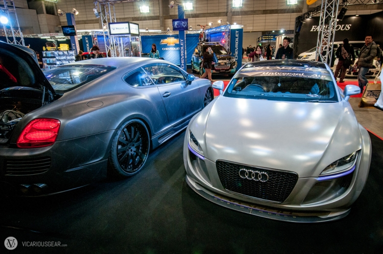 One of my favorite cars (Audi TT) was in a booth by Garage Ill/Universal Air.