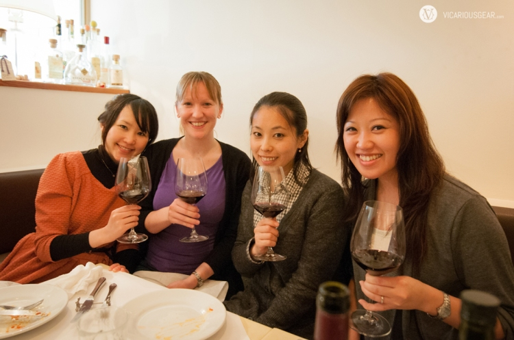 Our friends (from left) Namika, Stephanie and Rie joining us for the evening.