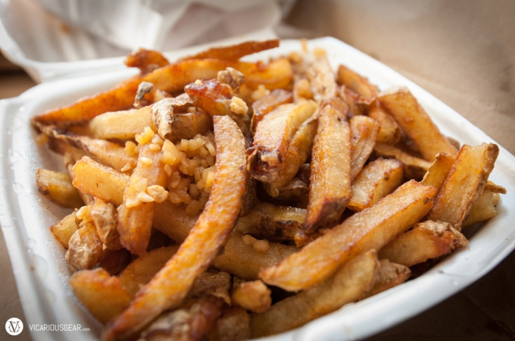 Stinky Fries. Splashed with malt vinegar and garlic salt. I was expecting more of that great Salt & Vinegar potato chip taste.