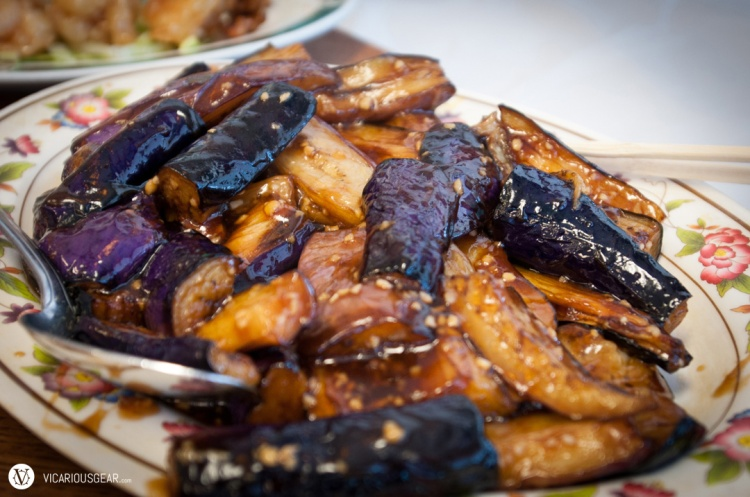 Mmmm eggplant. I think this was prepared with garlic in a Chinese style brown sauce.