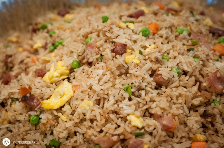 Tons of fried rice...