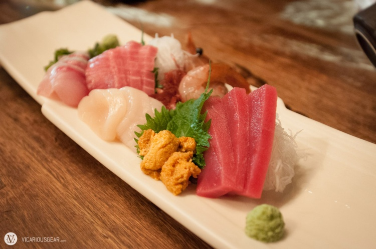 Sashimi platter came out first. I'd definitely go somewhere else if sushi is on your mind.