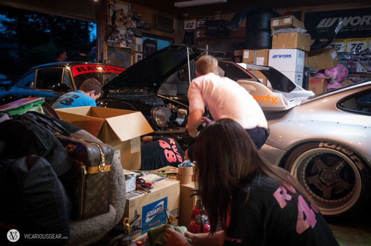 Inside the shop, everyone was lending a hand in the last minute preparations.