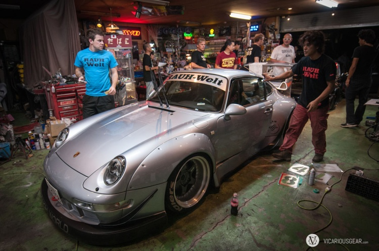 This 993 was freshly built off a pristine 48,000 kilometer chassis. It wouldn't be spotless for long...