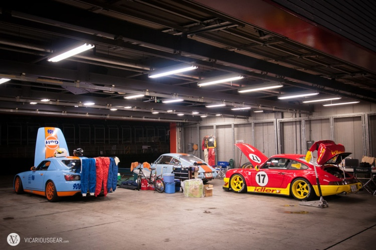 In the next bay were these cool cars with Gulf livery and the Idlers Club president's personal 911.