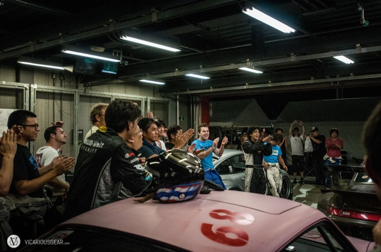 All six RWB Porsches successfully finished the race and Nakai-san wrapped it up with a thank you speech.