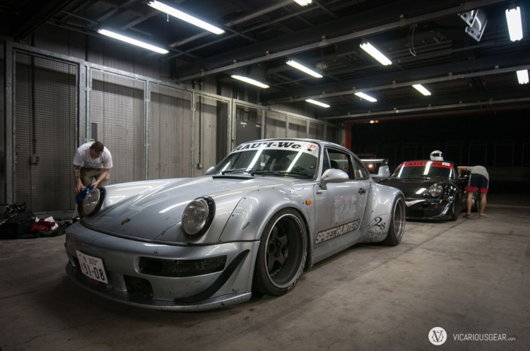 After the race, I had the privilege to drive the super wide 964 back to the shop.