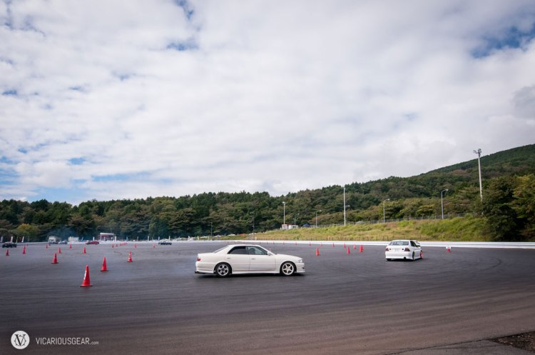 Just up the hill was a cone lined skidpad area for the less experienced drivers to practice.
