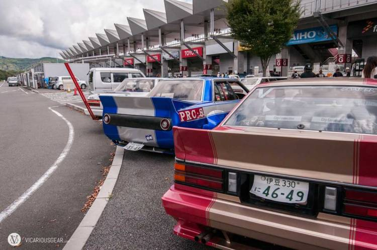 Just behind the Celica and Laurel was a trio of kaido racers.