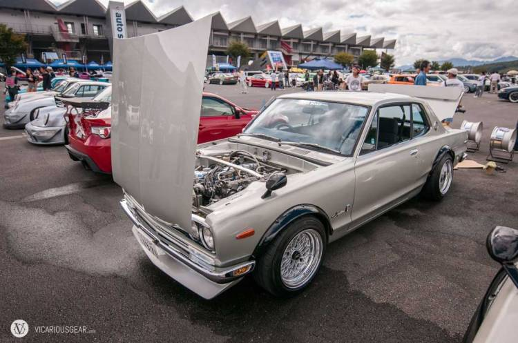 Displayed on a restored Hakosuka ...