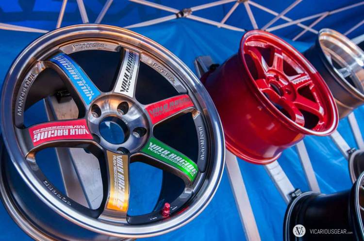 With wheels being one of the defining modifications for this scene, all the major manufacturers were out to display their wares. The new anodized finish available on Volk rims looked amazing. Showing the variety of colors available on one wheel was pretty cool.
