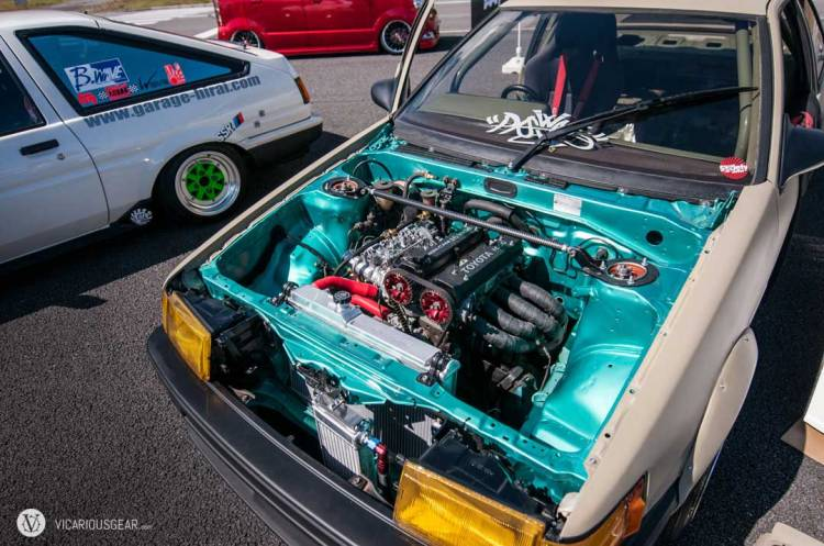 The engine bay in this Levin caught my eye with all the clutter tucked away and the 16V Twin Cam at center stage.