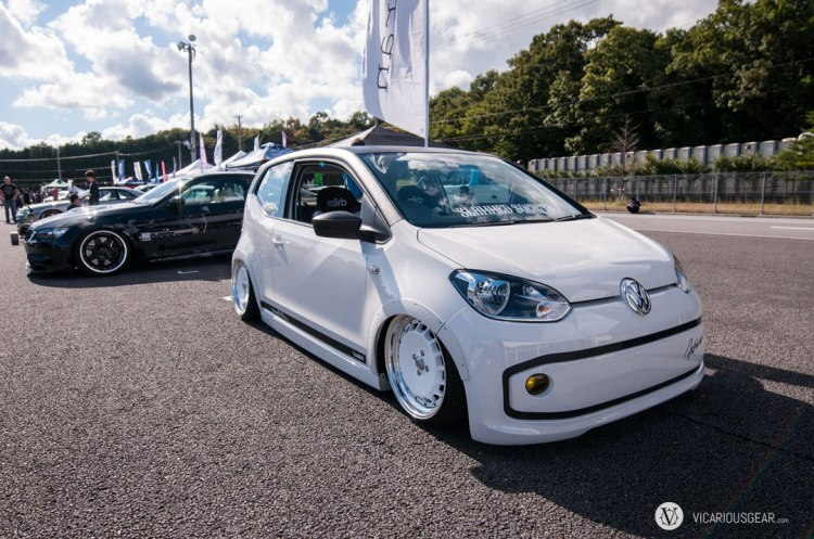 This Volkswagen e-UP had a huge presence. I loved the look