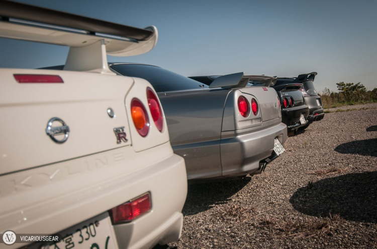 Rows upon rows of legendary tail lights.