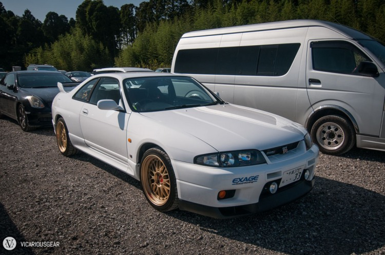 An R33 on nice BBS LMs but sticker/badge tuned to death.