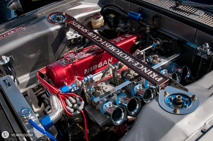 Its rare to see such perfect engine bays in 40+ year old cars here but there were quite a few at the festival.