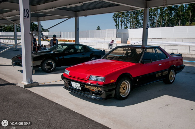 Super clean red over black iron mask Skyline next to a...Knight Rider?