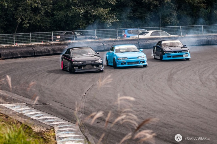 The best tandem effort I witnessed during my short time at the drift track.
