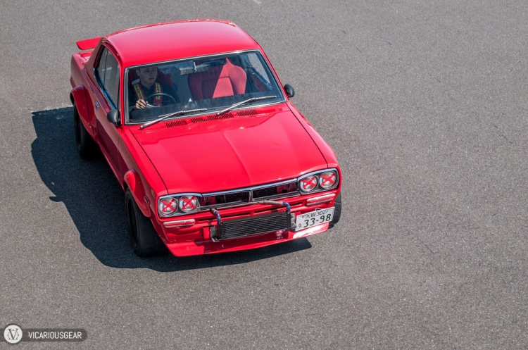 I think the owner of this red Hakosuka was the only other one younger than the car itself.