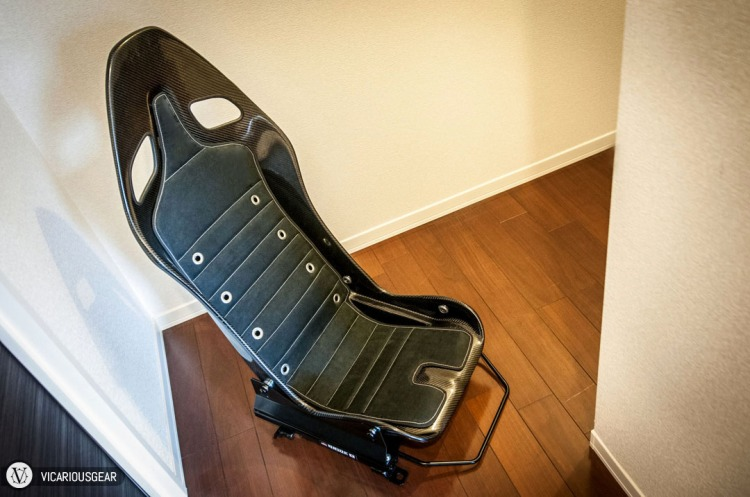Modified Compositeworx seat, mounted to Bride FO rails.