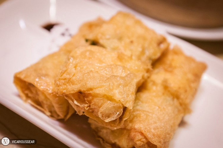 Fu Pei Guen (腐皮卷 / Beancurd Skin Rolls). Nice and light skin with very little oil.
