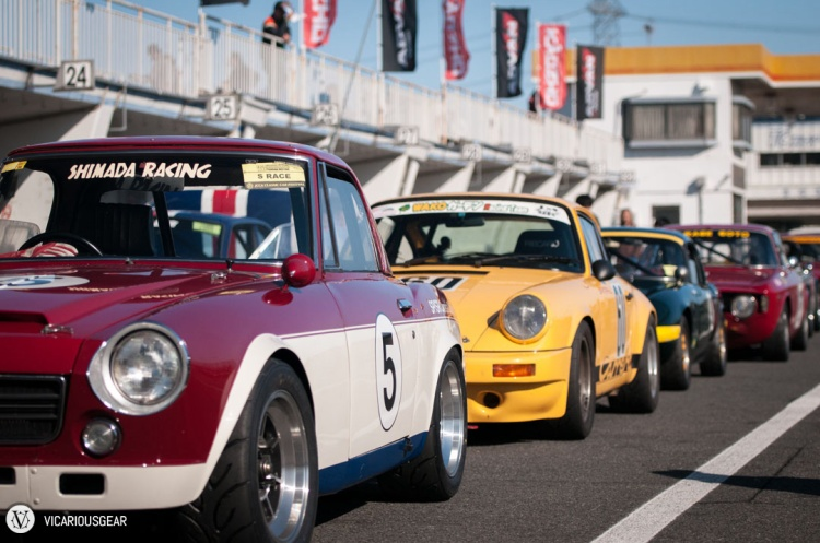 The lineup was pretty diverse. It's not often you get the pleasure of seeing a Fairlady, 911, Elan and, Giulia preparing to do battle...