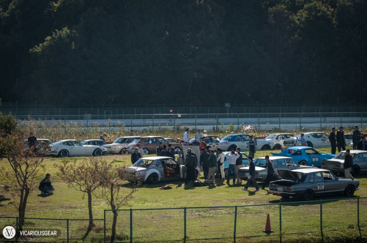 From there, I looked across and saw this field littered with highly modified Japanese classics. I had to check it out.