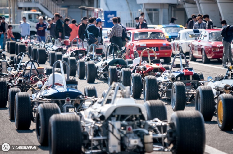 There were a few run groups which created a sea of fat vintage rubber.