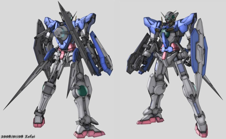 I'm a huge Gundam fan. So when I thought about Exia's flip out swords, a plan immediately formed.