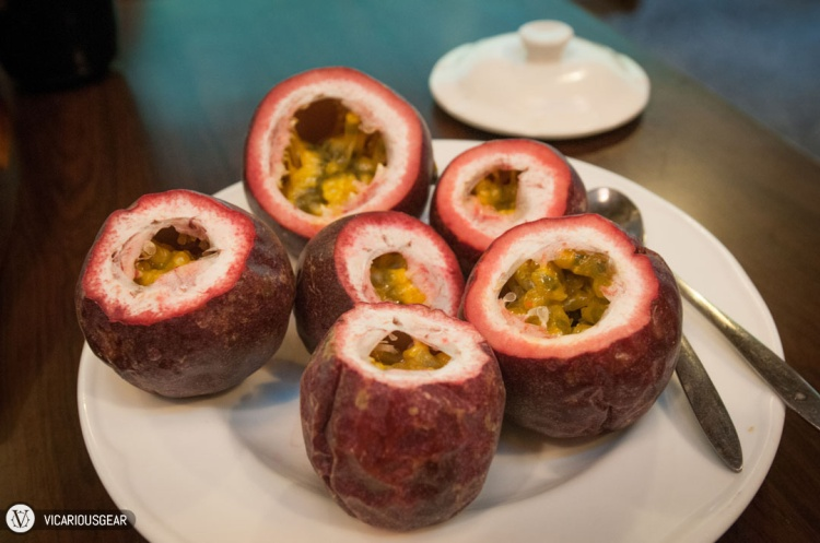 Nice big passion fruits for dessert.