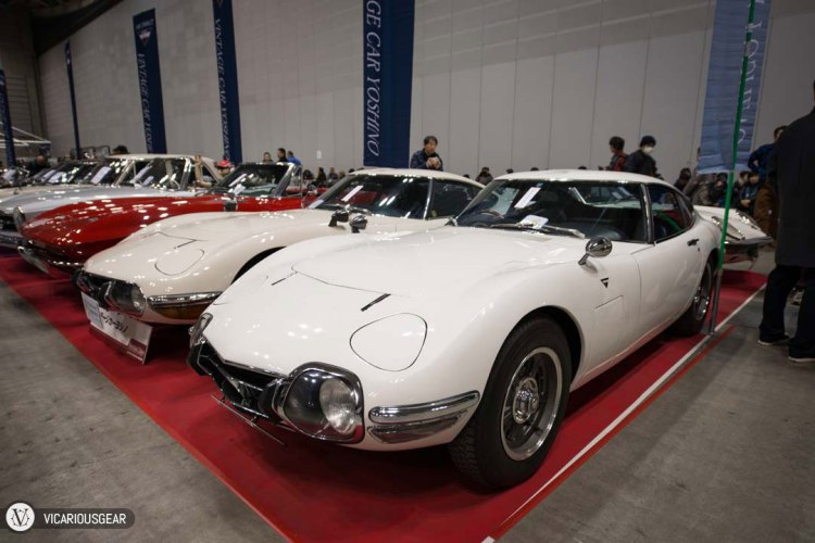 We were greeted by 2 examples of the extremely desireable Toyota 2000GT immediately upon entry. Vintage Car Yoshino has had these for quite a while.