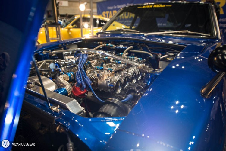 The engine bay of Star Road's famous blue Zed.