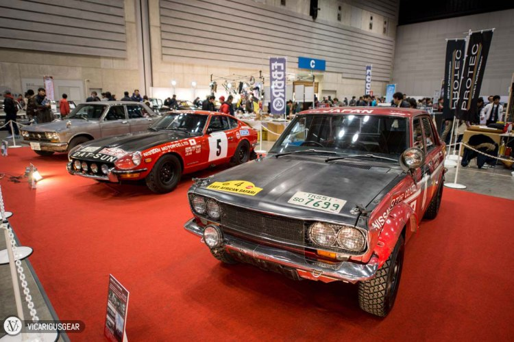 After being dissapointed by the Biko Works cars, my spirits were lifted again by this lineup of vintage Japanese rally cars