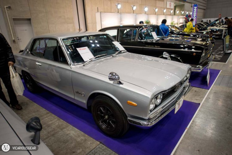 This stock Nissan 2000GT was probably one of the best deals at the show. It is the best condition Hakosuka I've seen for less than 50,000 USD (and I've seen a ton). It was also refreshing to witness the factory surfline still intact.