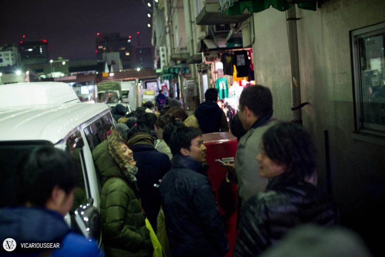 After leaving the club around 4 in the morning, we made our way to Sushi Dai and this line around the block was our greeting.