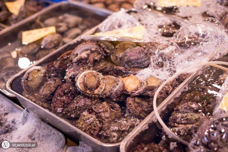 An abundance of bubbling abalone.