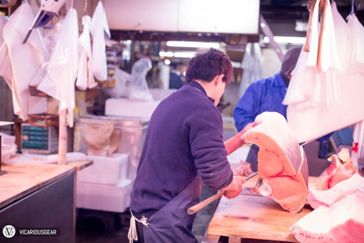 It was a treat to observe their filleting skills with the maguro bōchō.