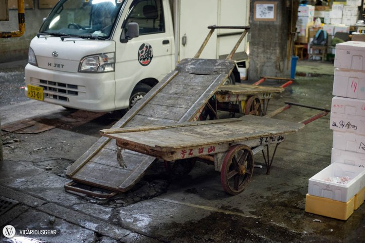For some reason, I found the patina on these well worn delivery carts really cool.