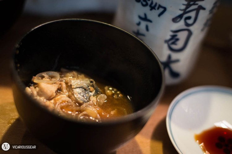 The miso was made with fish and roe