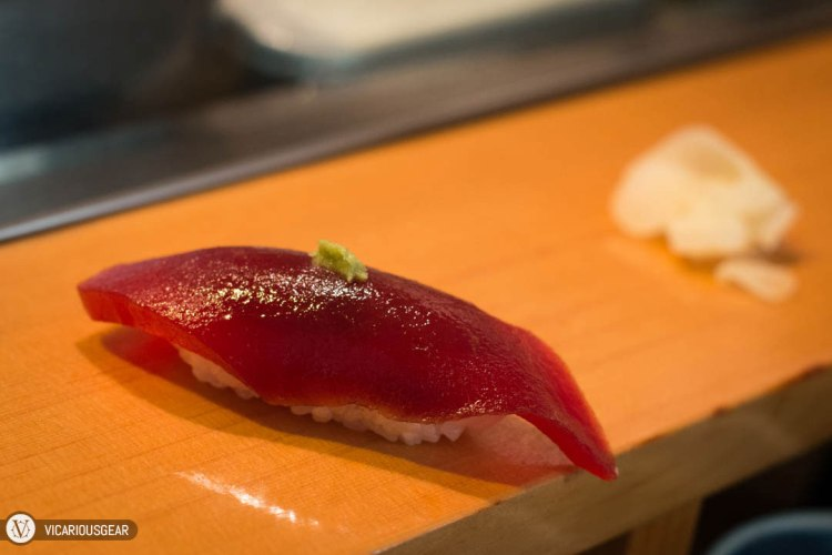 Non Fatty Tuna (akami). It was actually my first time trying this. I enjoyed the smooth and slightly firm texture.