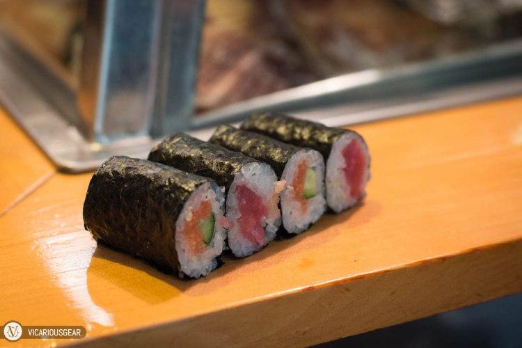 Salmon/Cucumber and Tuna rolls