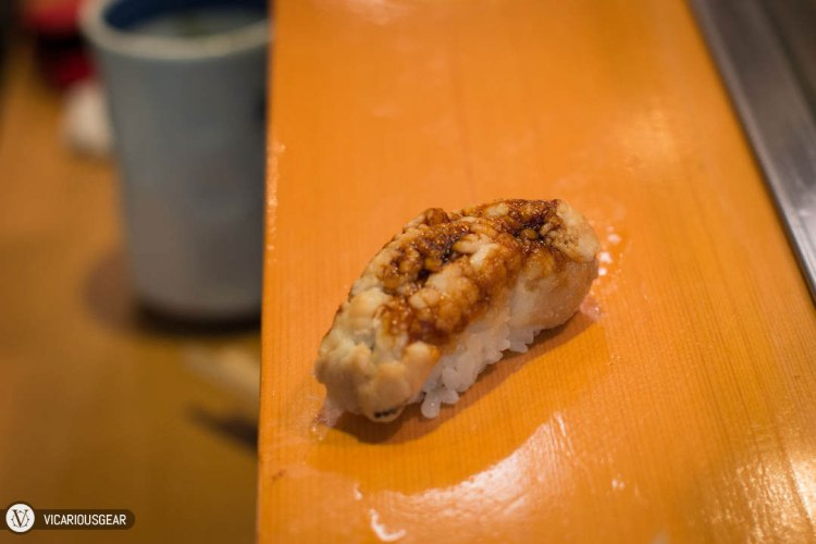 Salt Water Eel (Anago). Probably one of my least favorite types of nigiri sushi.